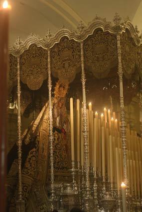 La Virgen de la Angustia en su palio.  Foto: A.S.Carrasco