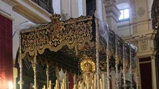 La Virgen de las Lágrimas en los Terceros.  Foto: A.S.Carrasco