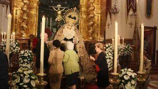 La Virgen del Patrocinio en su besamanos.  Foto: A.S.Carrasco