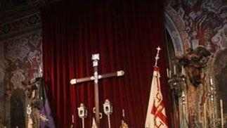 El altar de insignias de la Cena.  Foto: A.S.Carrasco
