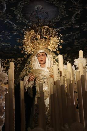 La virgen de la Consolación en su paso.  Foto: A.S.Carrasco