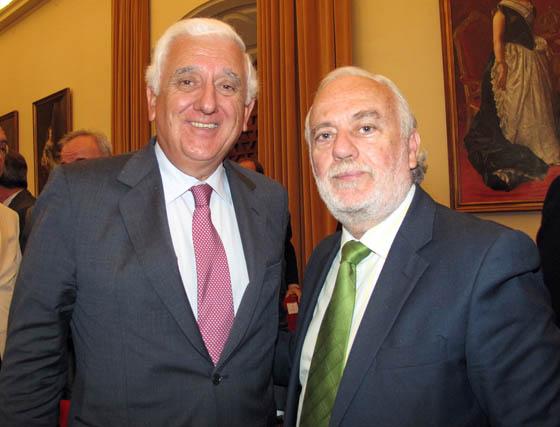 Santiago Herrero León, presidente de la CEA, e Isaías Pérez Saldaña, presidente del Parque Científico y Tecnológico Cartuja.  Foto: Victoria Ramírez