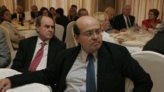 Manuel Soriano, director de Desarrollo Sostenible Holcim España, y Salvador Ibáñez, de GEA Eólica.  Foto: J. Alonso/ R. Gonzalez