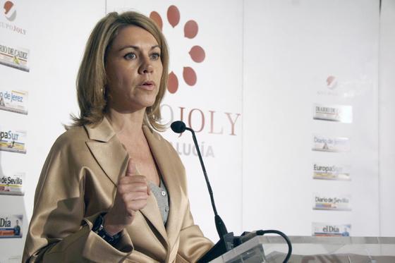María Dolores de Cospedal durante su intervención en el Foro.  Foto: J. Alonso/ R. Gonzalez