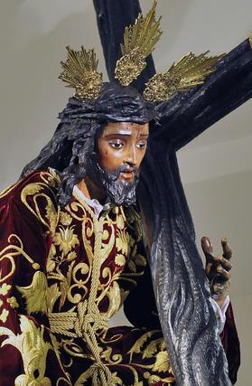 Detalle del Cristo de las Tres Caídas.  Foto: Juan Carlos Vázquez