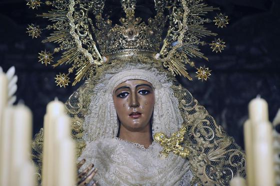 Rostro de Nuestra Señora de la Esperanza.  Foto: Juan Carlos Vázquez