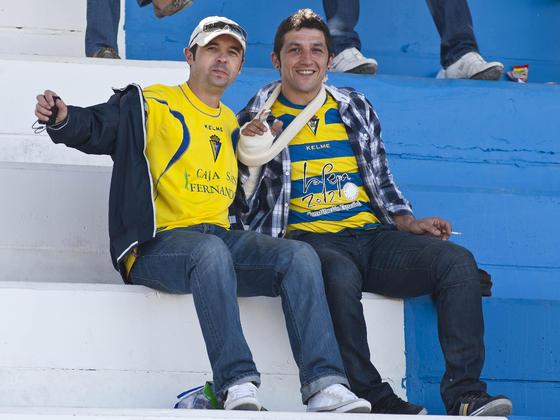El Cádiz estuvo acompañado en Jumilla.   Foto: LOF
