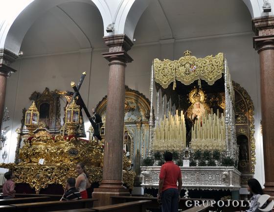 Los dos pasos de San Roque.  Foto: Manuel Gómez