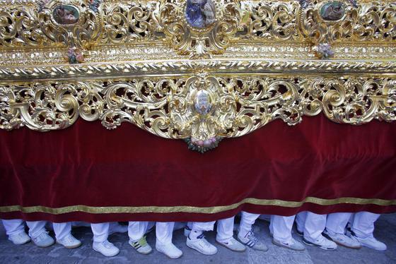 Recorrido procesional de la hermandad de la Borriquita.   Foto: Jesus Marin