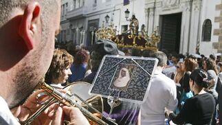 Salida procesional de Humildad y Paciencia de la parroquia de San Agustín.   Foto: Joaquin Pino