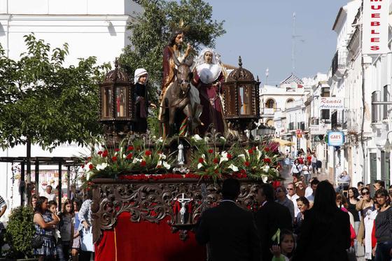 Procesión de la Borriquita de Cartaya. /Landero