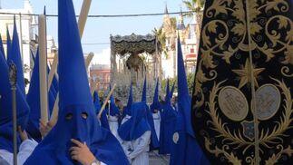 La Borriquita procesionando por las calles de La Isla./Fotos:Rioja  Foto: Elias Pimentel/Rioja