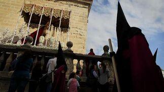 La Virgen del Socorro, por el reducto catedralicio.  Foto: Miguel Ángel González