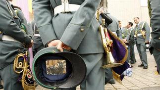 Detalle de una estampa en el interior de la gorra de plato de un músico.  Foto: Juan Carlos Toro