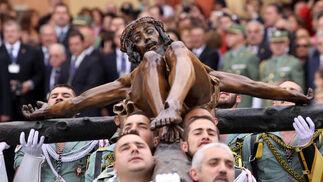 Las imágenes del traslado del Cristo de la Buena Muerte