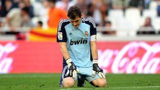 ^El Real Madrid golea al Valencia a domicilio (3-6). / AFP