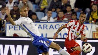 Los de Oltra, más colistas tras perder un crucial encuentro ante el Zaragoza.  Foto: Javier Cebollada/ EFE