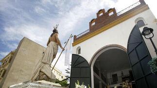 Imagen del paso de El Resucitado, en Algeciras./Erasmo Fenoy  Foto: Erasmo Fenoy/Paco Guerrero/E.S.