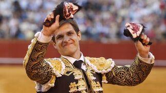 El Juli corta dos orejas en una actuación plena de poderío.  Foto: Juan Carlos Muñoz