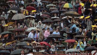 Tarde de lluvia en La Maestranza.  Foto: Juan Carlos Muñoz