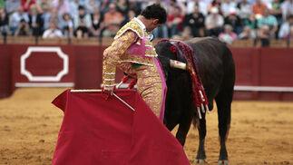 Faena de muleta de Luis Vilches.  Foto: Juan Carlos Muñoz