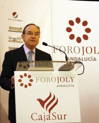 Pla presenta al consejero del Banco Central Europeo.