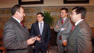 Tomás Valiente, Francisco Rapun, Luis Pérez-Bustamante y Jacinto Mañas.
