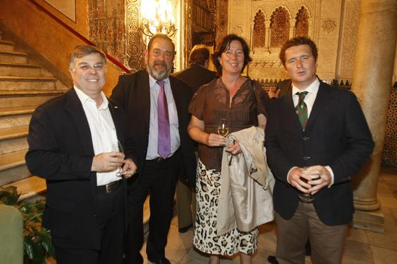El andalucista Enrique Martínez; Juan Vidal, de Ateia; Kate Bonner, de la APBC; y Javier Copano.  Foto: Jose Braza