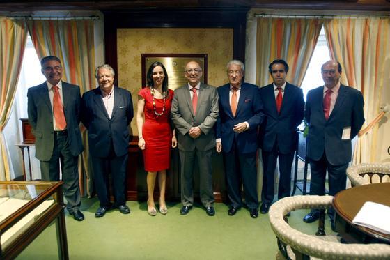Pablo Lorenzo, Enrique Maestre, Rosa Santos, Fernando González Laxe, Miguel Nuche, Rafael Navas y Rafael Barra.  Foto: Jose Braza
