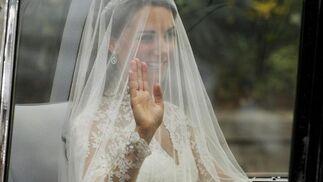 Kate Middelton, con su traje de novia.   Foto: Reuters
