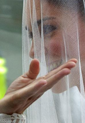 Kate sonríe en todo momento.  Foto: Reuters
