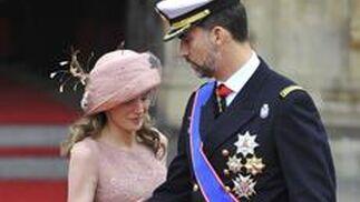 El príncipe Felipe y Letizia Ortiz.  Foto: Reuters