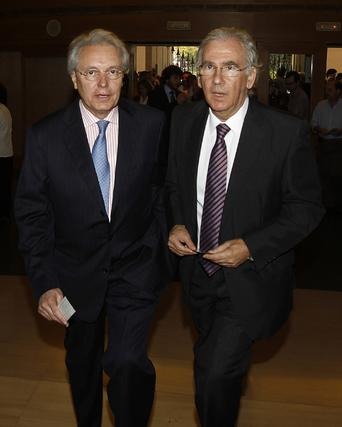 Miguel Ángel Pino y José Manuel Amores, impulsores de Diputación y Caja San Fernando. / A. Pizarro · V. Hidalgo