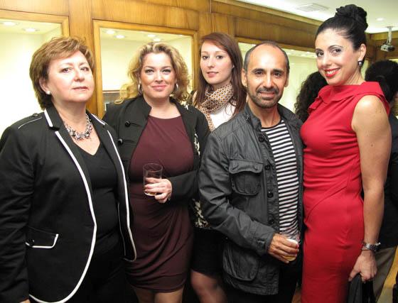 Concha Pérez (Turismo Andaluz), Lidia Díez y Maude Lardier, de LD Eventos; Santiago Tovar y Pilar Gallego.  Foto: Victoria Ramírez