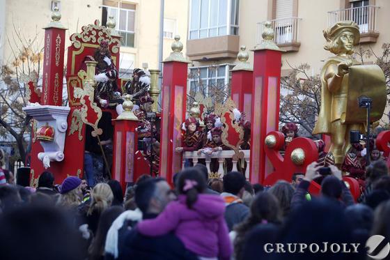 La carroza del rey Gaspar en la cabalgata.   Foto: Jesus Marin