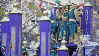 La carroza del rey Baltasar.   Foto: Jesus Marin