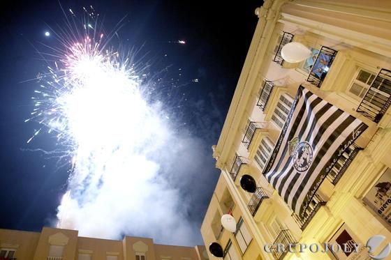 Fuegos artificiales en honor a la Balona  Foto: Erasmo Fenoy
