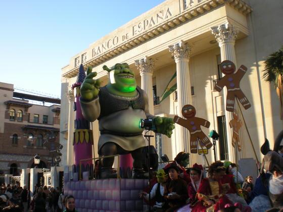 Carroza de Shrek  Foto: I. Mateos