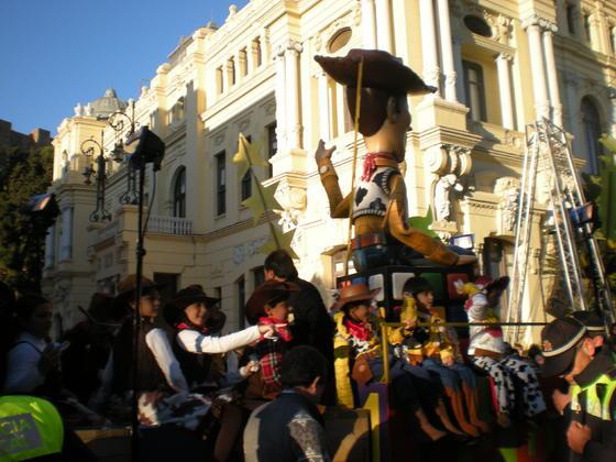 Carroza de la cabalgata de Málaga  Foto: I. Mateos