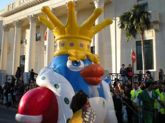 Una de las carrozas de la Cabalgata de Málaga  Foto: I. Mateos
