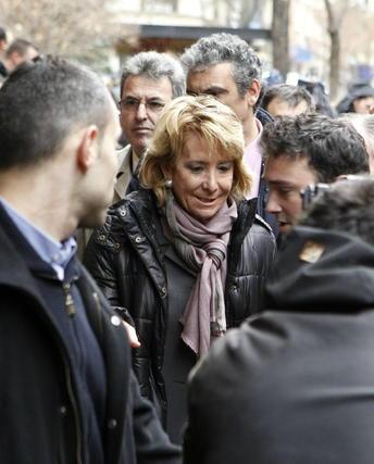La presidente de la Comunidad de Madrid, Esperanza Aguirre. / EFE