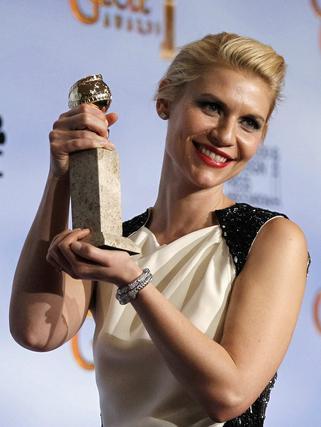 Claire Danes, Globo de Oro a mejor actriz protagonista de un drama para televisión por 'Homeland'. / Reuters