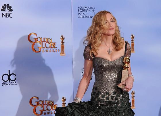 Madonna, Globo de Oro a mejor canción original por 'Masterpiece', de la película 'W.E.'. / Reuters