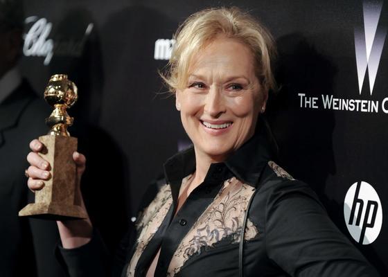 Meryl Streep, Globo de Oro a mejor actriz protagonista por 'La dama de hierro'. / Reuters