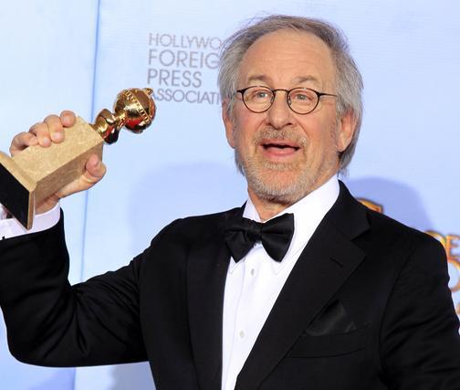 Steven Spielberg, Globo de Oro a mejor película de animación por 'Las aventuras de Tintín'. / Reuters