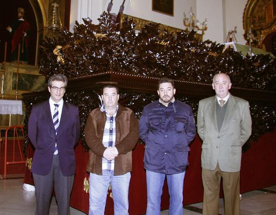 La hermandad dio a conocer el resultado de la restauración en la tarde de ayer.   Foto: Victoria Hidalgo