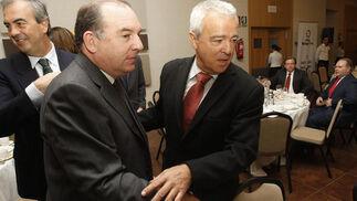 Carlos de las Heras, el alcalde de Vélez, Francisco Delgado y Francisco Gutiérrez  Foto: Reportaje gr?co: Migue Fernandez y Sergio Camacho