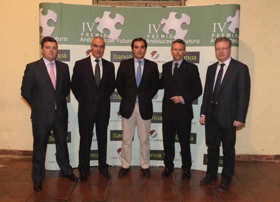 Luis P. Bustamante, Antonio Soto, José Antonio Nieto, José Joly y Juan J. Primo.  Foto: O. Barrionuevo / lvaro Carmona
