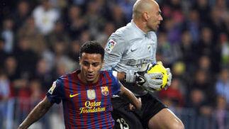 El Málaga es goleado en casa ante el Barcelona (1-4). / Sergio Camacho