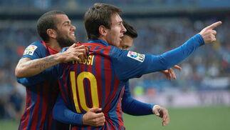 El Málaga es goleado en casa ante el Barcelona (1-4). / EFE